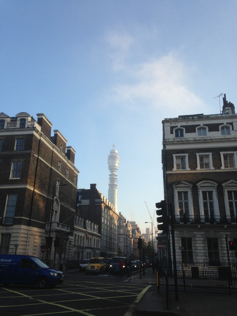 Post Office Tower or alien spacecraft? Ah, London, my London, you are only the greatest city on earth